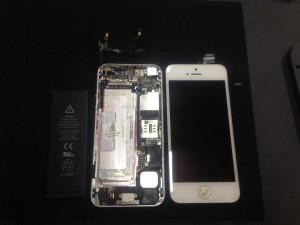 iphone5 スリープボタン修理